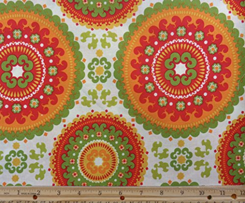 Geometric Design Cotton Fabric  42  Wide   3  Yards In Continuous Piece
