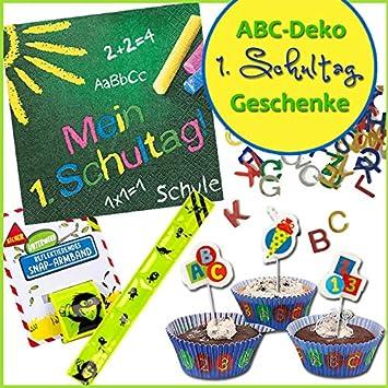 Erster Schultag Abc Deko Geschenke Muffinförmchen