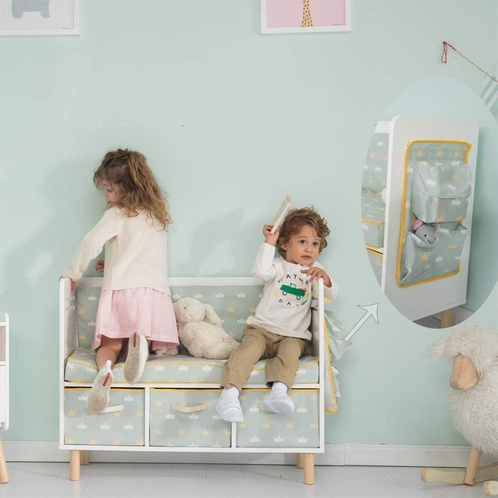JOLIE VALL/ÉE TOYS /& HOME Canap/é de Rangement pour Enfants Gar/çon Fille Chaise B/éb/é Si/ège en Coton pour Les Enfants Doux et Confortable//Meuble Enfant//Meuble Enfant//
