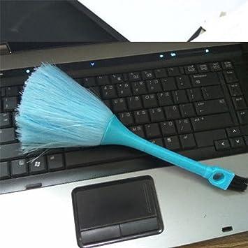 PURATEN 2 en 1 cepillo de teclado, mini cepillo de limpieza de teclado antiestático polvo cepillo ...