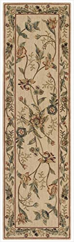 Nourison Grand Parterre Parth Beige Rectangle Area Rug, 3-Feet 6-Inches by 5-Feet 6-Inches 3 6 x 5 6