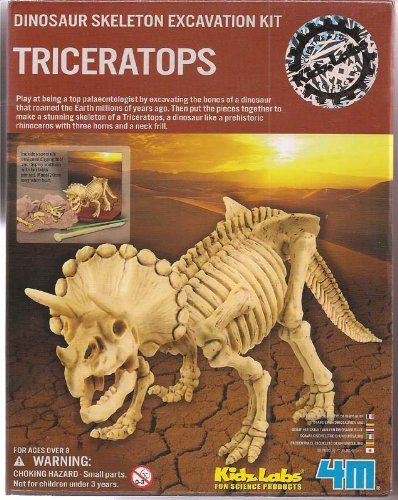 Kidz lab Triceratops Dig a Dino Excavation Kit by 4M