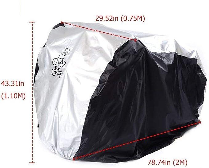 ANFTOP Funda para Bicicleta Funda Protector de Polyester Cubierta Impermeable de Bicicleta Para Dos Bicicletas de 200 x 75 x 110 cm: Amazon.es: Deportes y aire libre