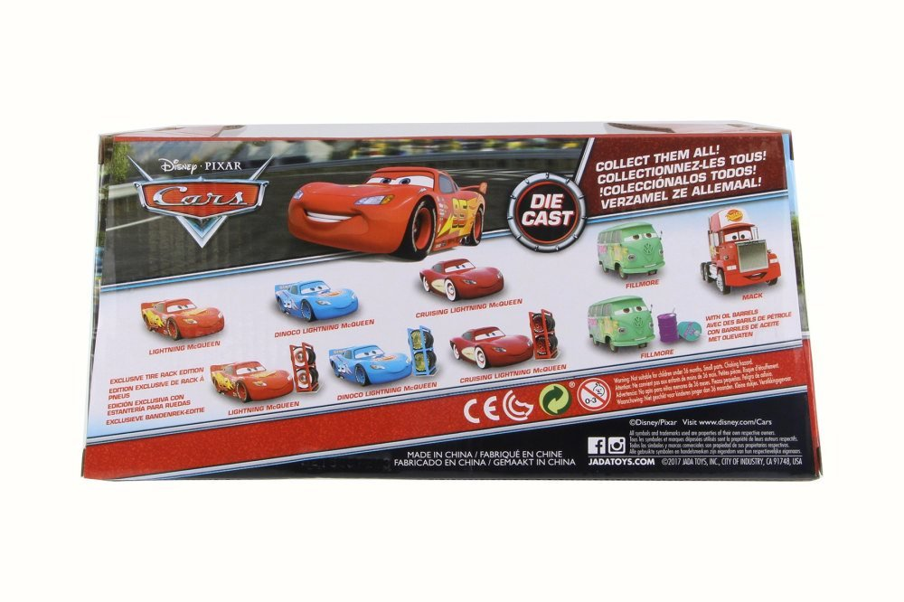 Amazon.com: Disney Pixar CARSDINOCO Lightning McQueen, Sky Blue - Jada 98100 - 1/24 Scale Diecast Model Toy Car: Toys & Games