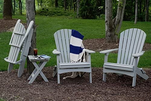 CASA BRUNO Alabama Oversized Adirondack Chair, foldable, made of recycled Polywood® HDPE plastic lumber, pacific blue - unconditionally weather-resistant