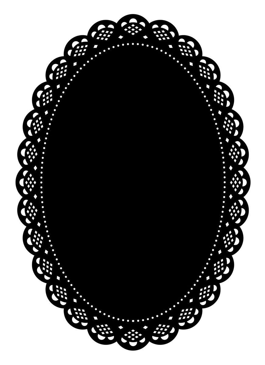 Darice Embossing Folder Cartella per Goffratura Mascherina Centrino Ovale, 10.8x14.6x0.3 cm 1218-105