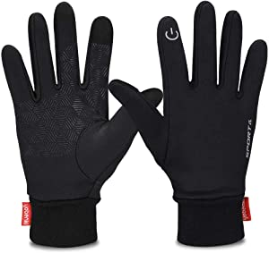 Yobenki Winter Gloves, Cycling Gloves Touch Screen Gloves Windproof Warm Gloves for Cycling Riding Running Skiing and Winter Outdoor Activities Men & Women