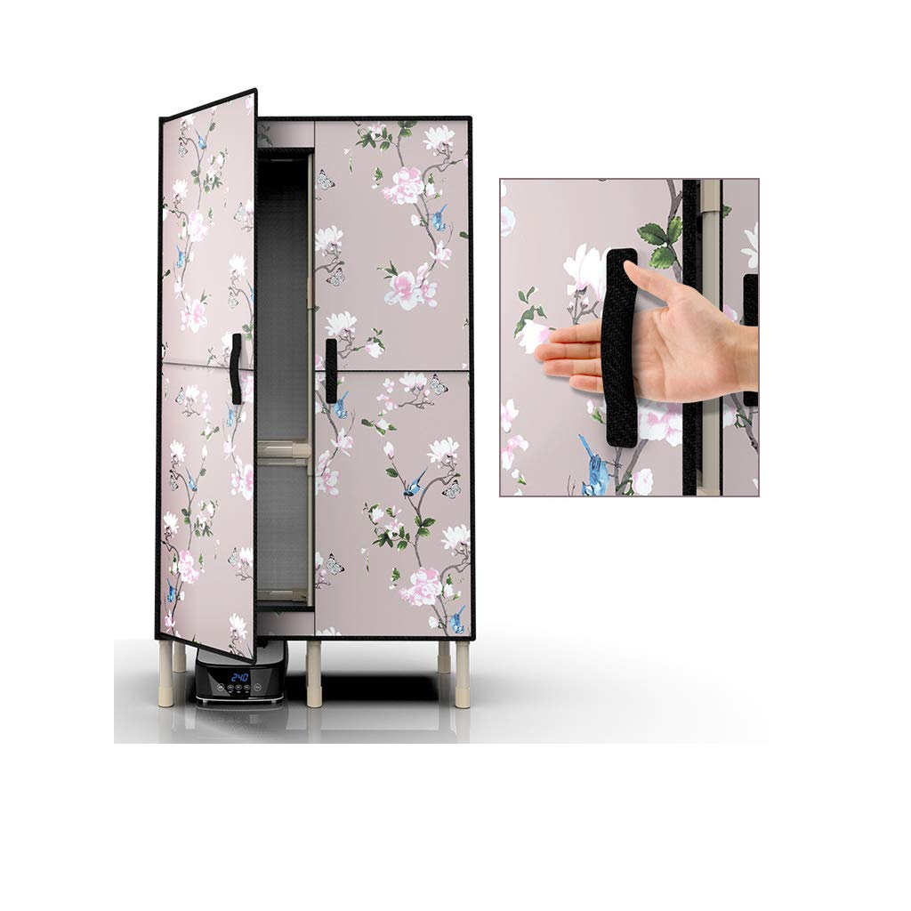 Secador de vestuario, PTC Cinta de calefacción Control remoto Soporte de tubo de acero de tres capas 1300w Secado rápido con cubierta de tela Oxford ...