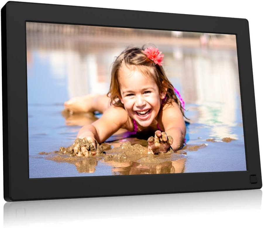 BSIMB Digital Picture Frame 10.1 Inch WiFi 16GB Digital Photo Frame 1280×800 IPS Touch Screen Auto Rotate Motion Sensor Add Photos Videos from iPhone Android App Twitter Facebook Email W10