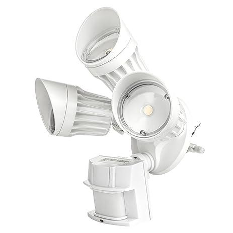 Hyperikon led security light 30w 3 head white infrared motion hyperikon led security light 30w 3 head white infrared motion sensor crystal aloadofball Images