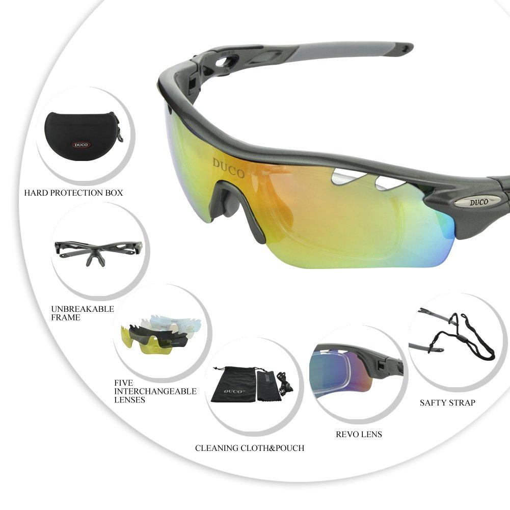 Gafas de sol polarizadas Gafas de pesca deportiva de Camuflaje UV 400 Lentes Intercambiable