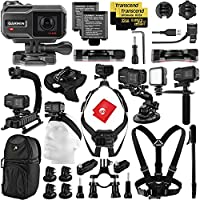 Garmin Virb X Urban Explorer Kit w/ Hand and X-Grip; Chest, Wrist, Head, Suction, Bike Mounts; LED, Video Bracket, Dual Cam Dog Harness, 67 Inch Monopod, Sling Backpack, (2x) 32GB microSDHC Memory