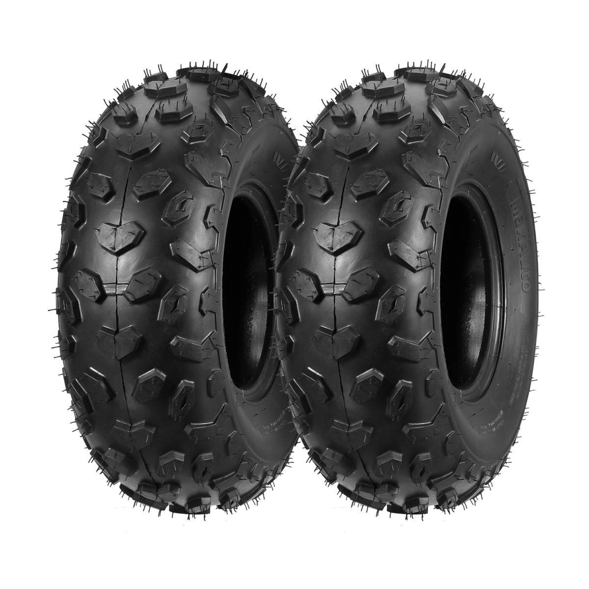 Set of 2 Sport ATV Tires 19x7-8 19x7x8 19 7 8 4PR Load range B 28J by MaxAuto