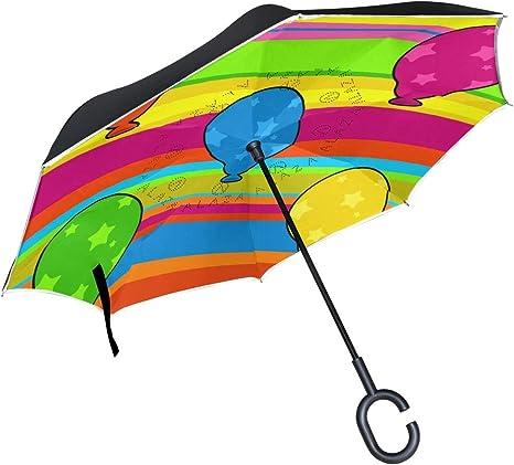 MALPLENA Paraguas invertido con diseño de balón de Dibujos ...
