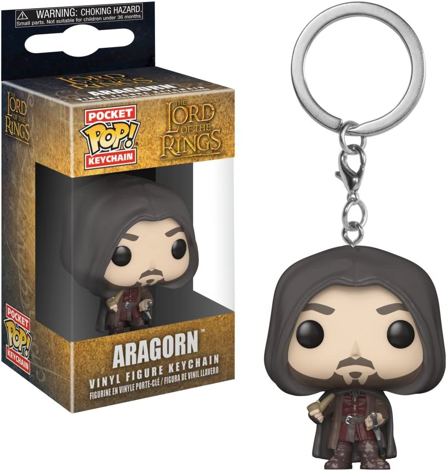 Funko Pop Keychain Aragorn Collectible Figure Lord of The Rings Multicolor