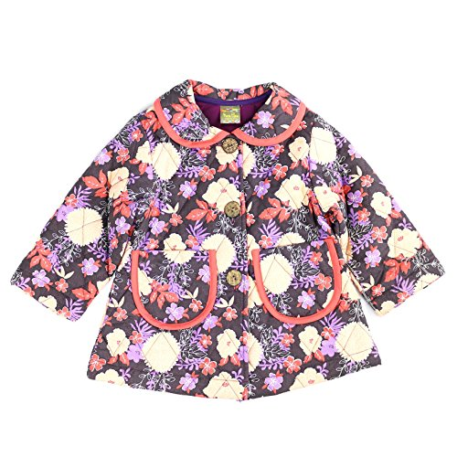 Maria Elena - Toddler Soft Cotton Floral Printed Quilted Jacket Dannie-Bee - (Floral, 4T)