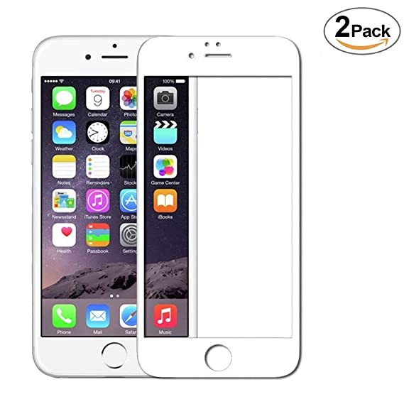 pretty nice 21d84 eb0b3 YCFlying Compatible iPhone 6 Plus Screen Protector, HD Tempered Glass 5D  Touch 9H Hardness Full Cover No Bubbles Anti-Fingerprint Screen Protector  for ...