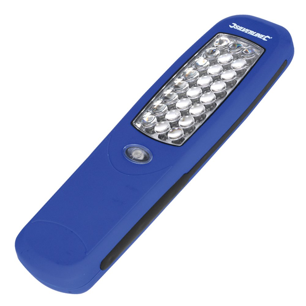 Silverline 564789 - Linterna magnética (24 LED) Toolstream