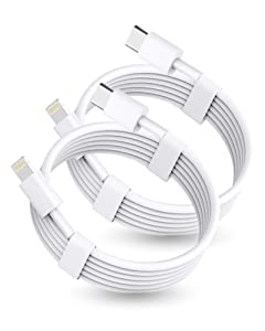 【Apple MFi Certified】iPhone Fast Charger Cable,2 Pack 6FT USB C to Lightning Cable 20W Fasting Charging iPhone Cable for iPhone 12/11/XS/X 8 7/iPad/AirPods Pro,Supports Power Delivery & All iOS System