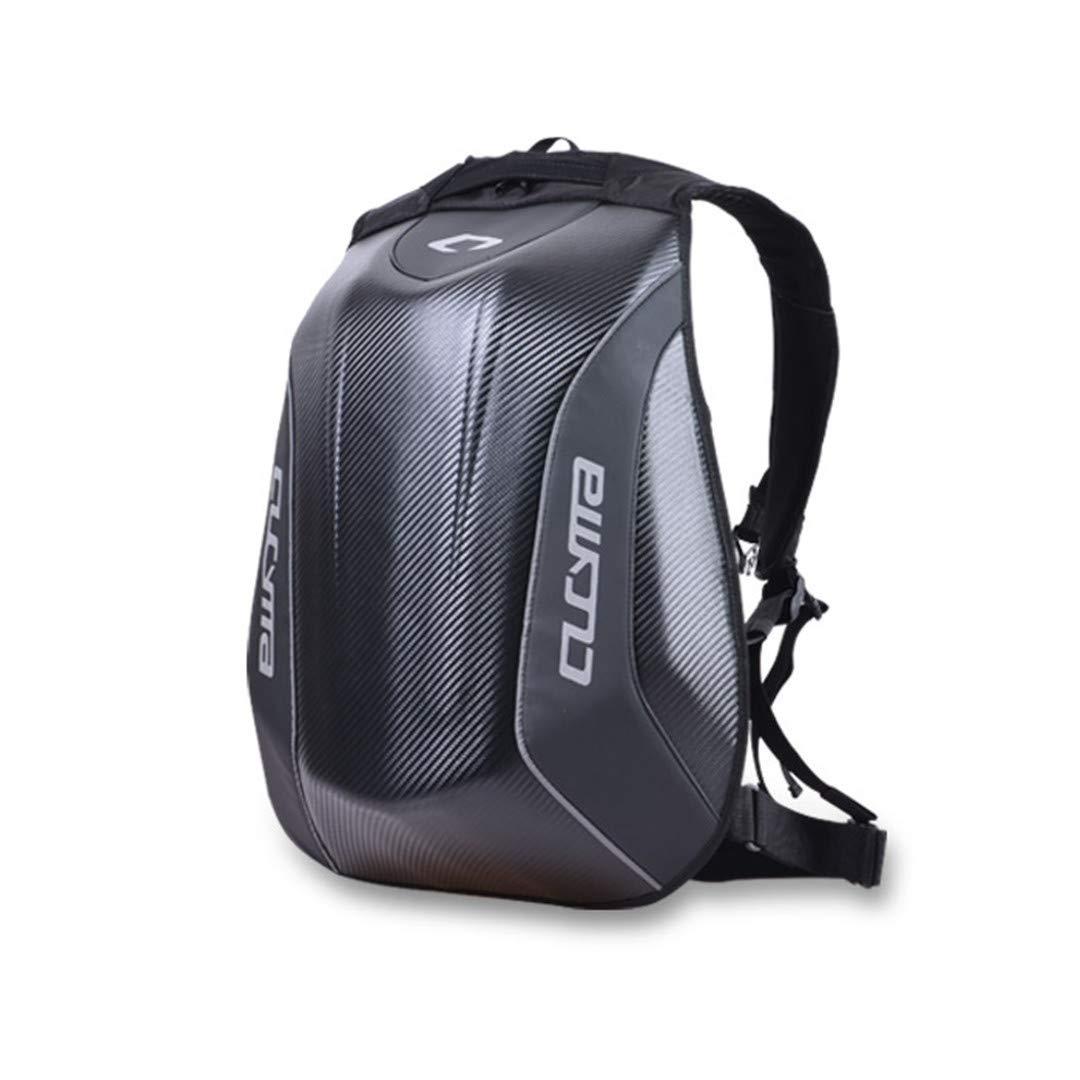 Speciclny Motorcycle Bag Waterproof Motorcycle Backpack Carbon Fiber Motocross Racing Riding Helmet Bag Motorbike Knight Backpack Black