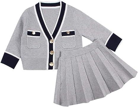 FOANA - Conjunto de ropa para bebé y niña, de punto, con falda ...