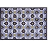 Pop Flowers Turtle Mat (National Trust Collection) Indoor highly absorbent barrier mat Multi-Grip Backing 60x85cm by Turtle Mat