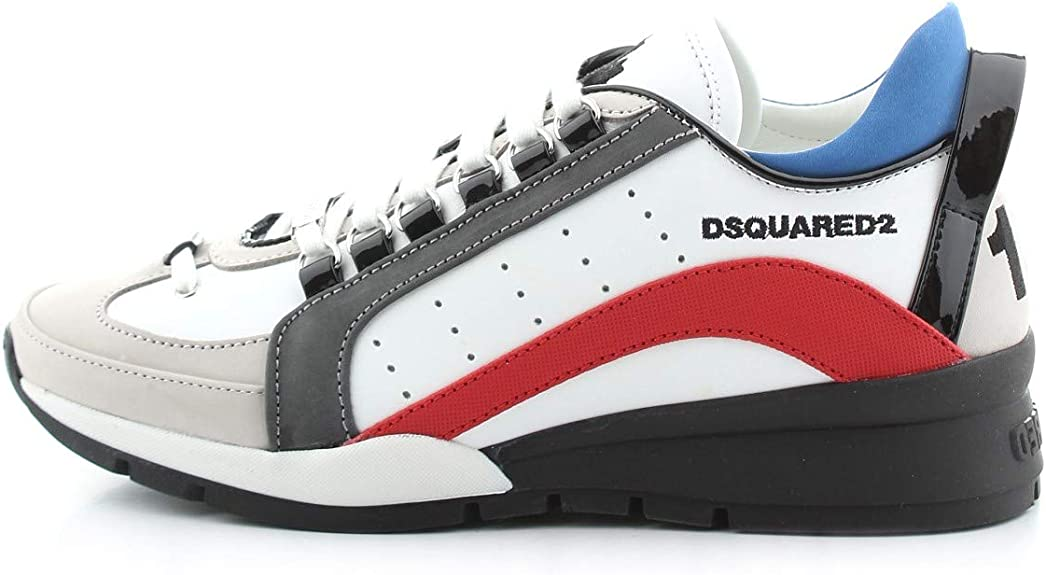 Dsquared2 White Red 551 Sneaker Man Ss 2020 Amazon Co Uk Clothing
