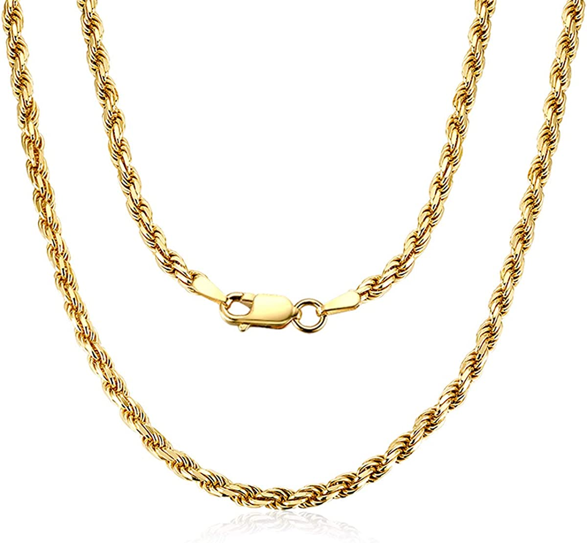 AINUOSHI Yellow New products world's highest quality popular Gold or Rhodium Sterling Plated At the price of surprise 1.4mm-5.0 Silver