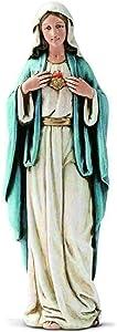 New Virgin Mary Statue - Immaculate Heart of Mary Catholic Figurine 6''