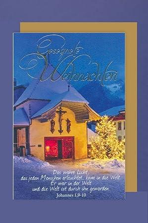 Christliche Weihnachten.Avancarte Gmbh Christliche Weihnachten Grußkarte Kapelle Im Schnee