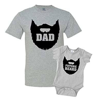 e6842935 The Shirt Den Dad Beard Future Beard Shirts Matching Father Son Shirts  Bodysuit Clothing Athletic Heather