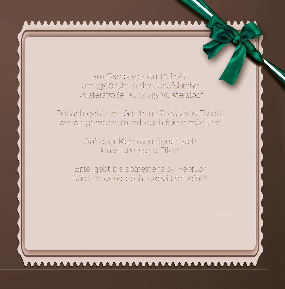 Kartenparadies Kartenparadies Kartenparadies Einladungskarte Taufeinladung Taufkarte Ribbon, hochwertige Einladung zur Taufe inklusive Umschläge   10 Karten - (Format  145x145 mm) Farbe  Rosalila B01N28A6NV | Feinen Qualität  | Wirtschaftlich und praktisch  | Preiszugeständniss dab15f