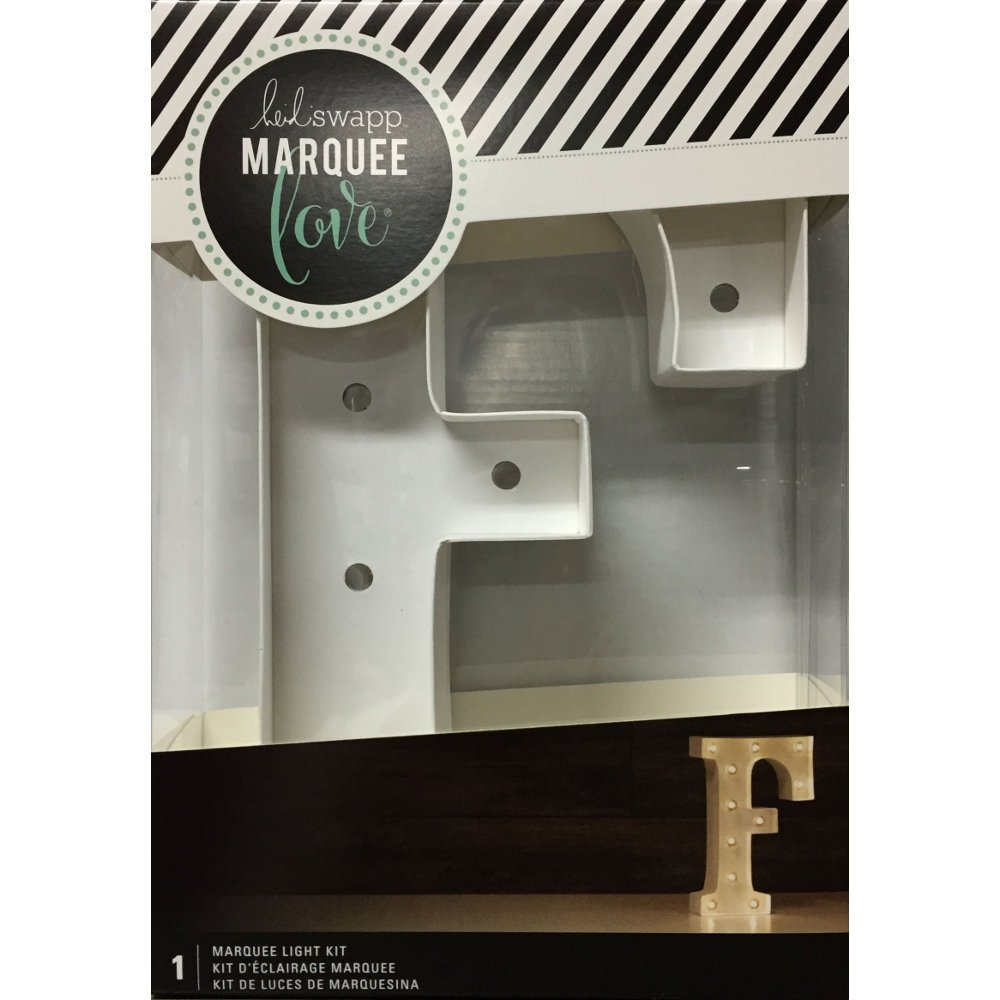 American Crafts Heidi Swapp 10 Inch Marquee Letters Letter F
