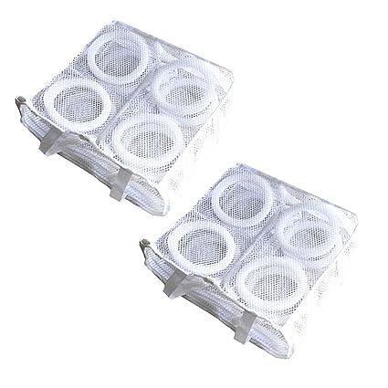 Lavatrice Maglia Da per Scarpe Lavanderia Ginnastica Sacchetto bianco 2pcs Della sacca Reggiseno Per qpSVUzM