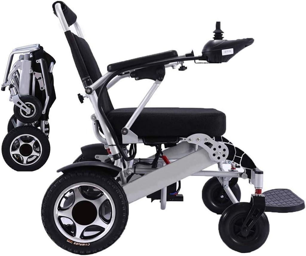 WISGING 2020 Silla de ruedas eléctrica portátil plegable ligera plegable Deluxe Potente motor dual Silla de ruedas compacta con ayuda de movilidad - Pesa solo 59 lbs con batería - Soporta 286 lbs
