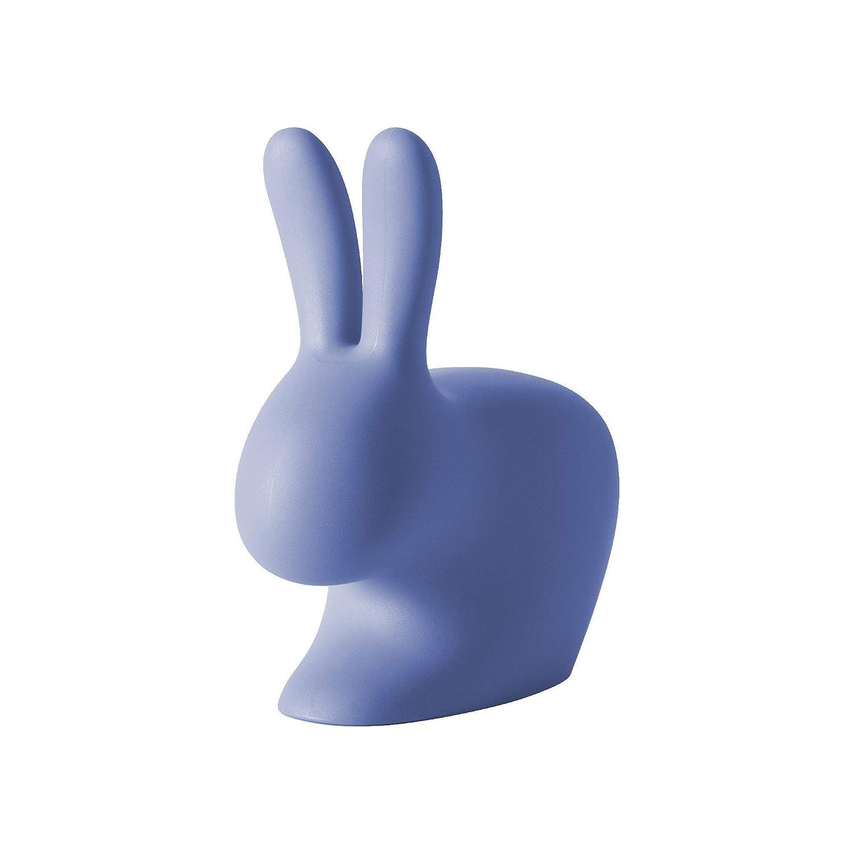 Polietilene Qeeboo Rabbit Sedia 68.8x39.5x80 cm Blu Chiaro