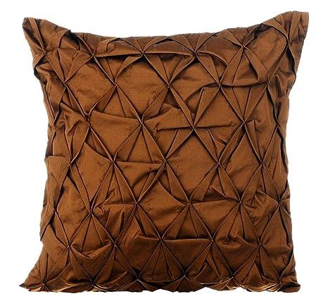 marrón fundas de cojines, 65x65 cm fundas de cojines, Con ...