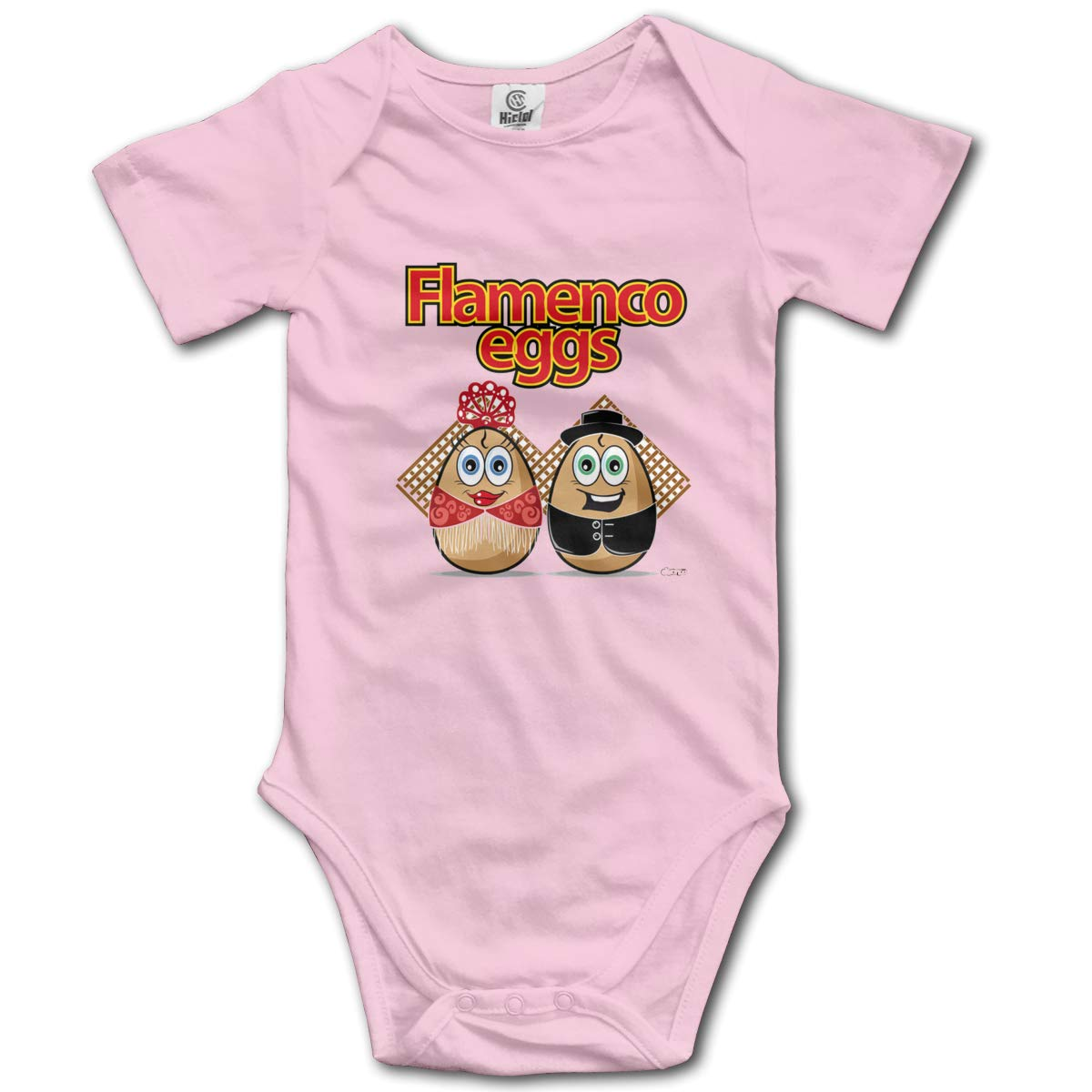 Coollifea Flamenco Eggs Baby Romper 0-18 Months Newborn Baby Girls Boys Layette Rompers Black