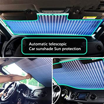 LanTianX Parasol Coche Anticongelante Cubierta del Parasol del Coche Cubierta del Parabrisas Visor Retr/áctil del Parabrisas Ventana Delantera Protector Solar Aislamiento 46 cm