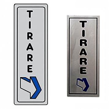 Takestop® Cartel Adhesivo de metal tirar con flecha ...