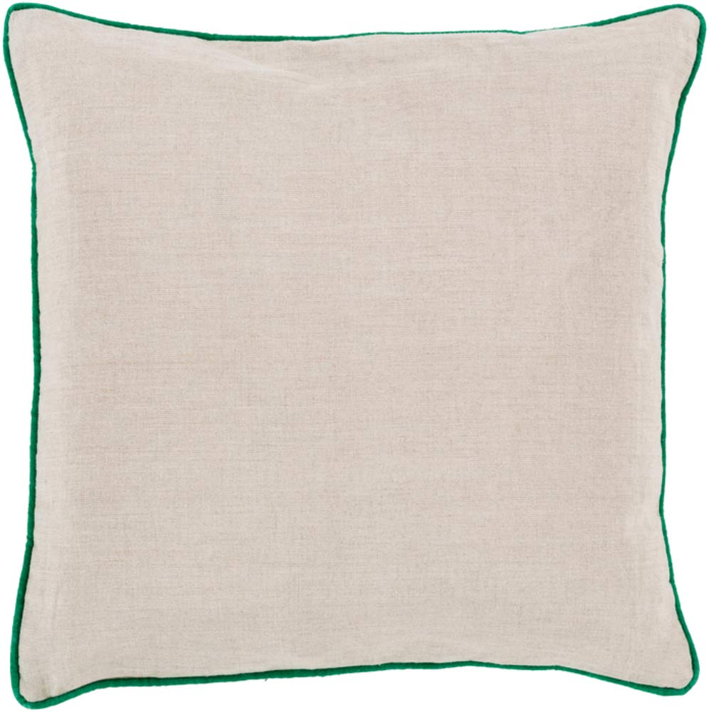 Solid & Border Pillow Cover Only Square 20'' x 20'' WL-067538-S