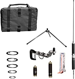 Super Antenna MP1DXMAX Ham Dual HF Plus 2 Meter Bands SuperWhip Tripod All Band with Clamp Mount and Go Bag Radio Amateur