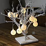 Alician 20Pcs Hollow Snowflake Snow Balls Light String Bedroom Window Decoration Outdoor Tent Lamp Bulb String Creative Party Lighting for Christmas
