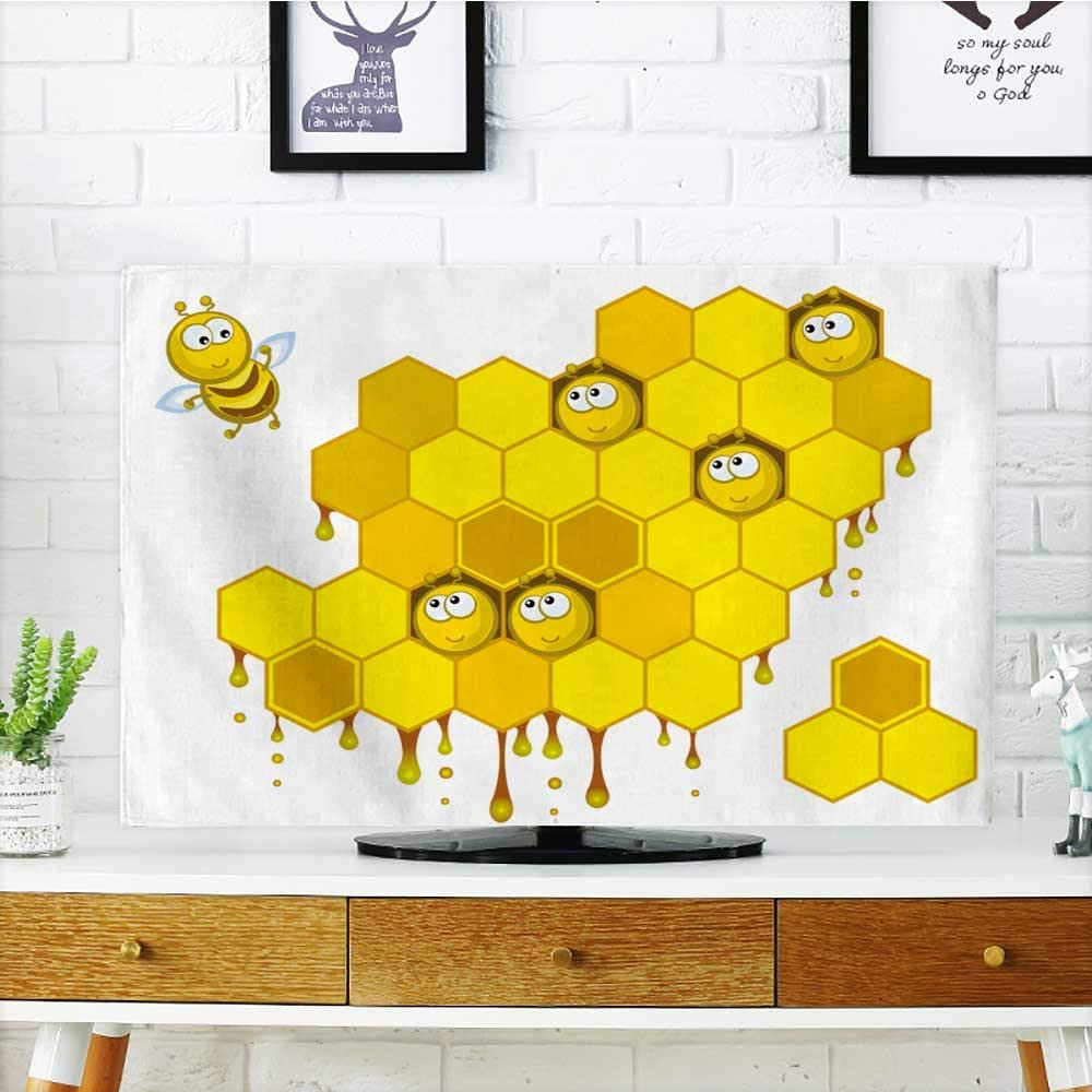 Philiphome Protect Your TV Comic Sound Effects in Pop Art Vector Style Sound Bubble Speech Protect Your TV W19 x H30 Inch/TV 32