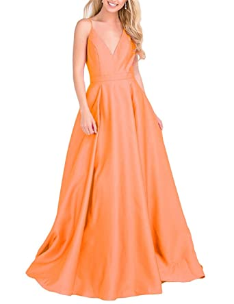 Ladsen Sexy Deep V-Neck Backless Stain Evening Dresses 2018 Long Prom Party Gowns L187