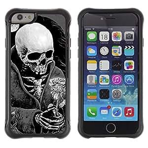 ZAKO CASE - La muerte cráneo Negro Blanco Luna Rosa - Apple Iphone 6 PLUS 5.5 - Funda Carcasa Bumper con Absorción de Impactos Slim Rugged Armor -