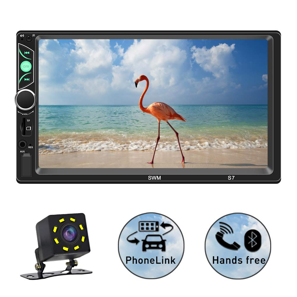 CDM product SPEEDTON 7 Inch Double Din Capacitive Touch Screen Car Stereo Audio Video MP5 Player Car Radio with Bluetooth Mirrorlink FM Radio Backup Camera/USB/SD/AUX Input big image