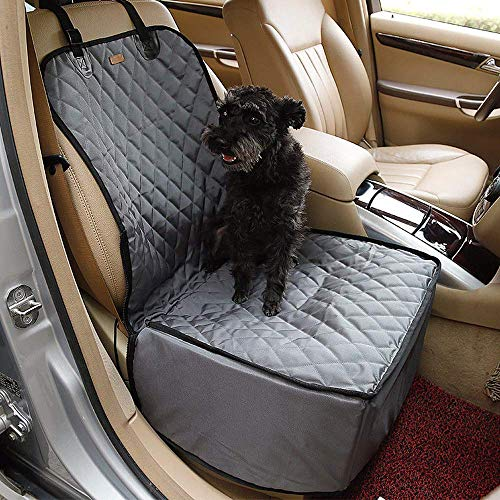Doglemi 2 in 1 Delux Pet Seat Cover Waterproof Dog Car Front Seat Crate Cover (Gray, 454558CM) Review