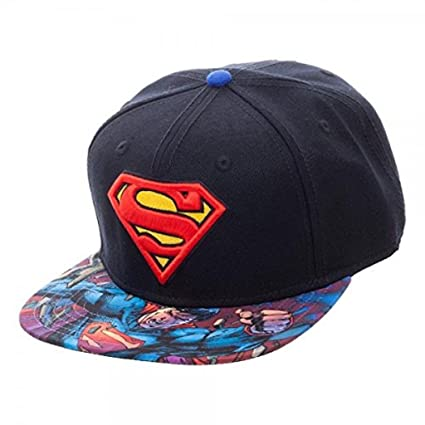 55be938da30 Image Unavailable. Image not available for. Color  New Dc Comics Superman  Snapback Cap Hat Adjustable Adult Sz Flat Bill