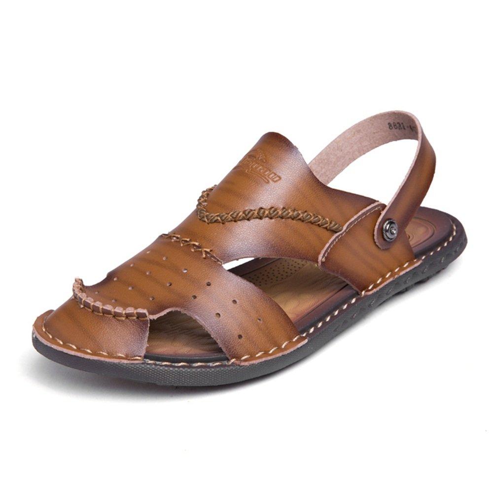 Sunny&Baby Sandalias Planas Slip de Hombre en los Zapatos de Moda Antideslizante (Color : Marrón, Tamaño : 39 EU) 39 EU|Marrón